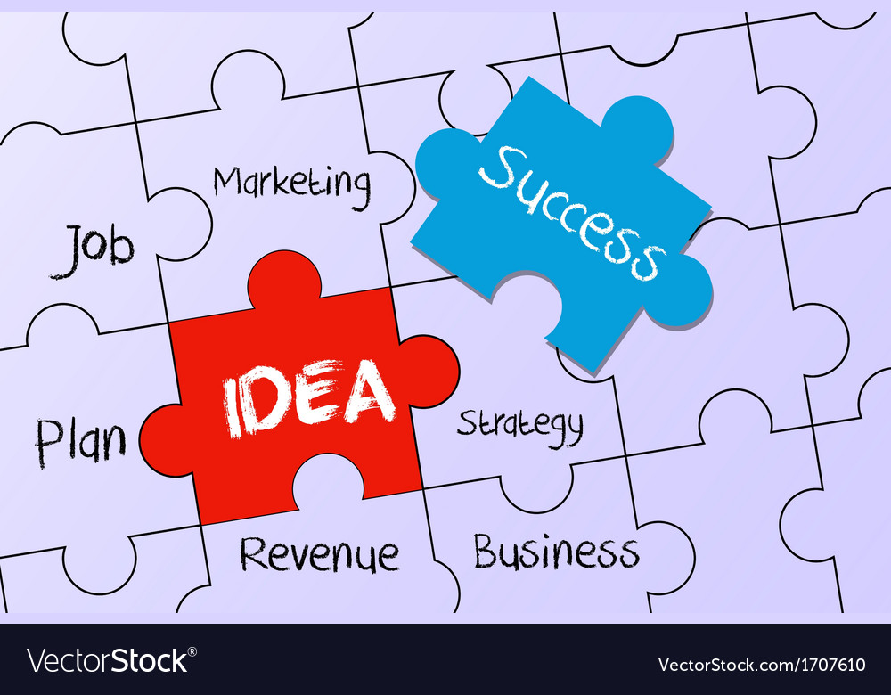 Business plan and idea to success vector