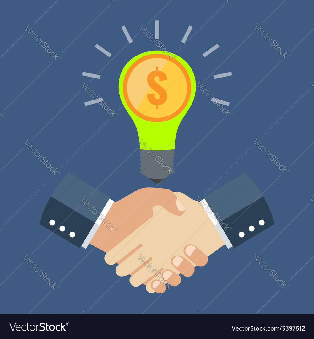 Business cooperation concept flat design stylish vector