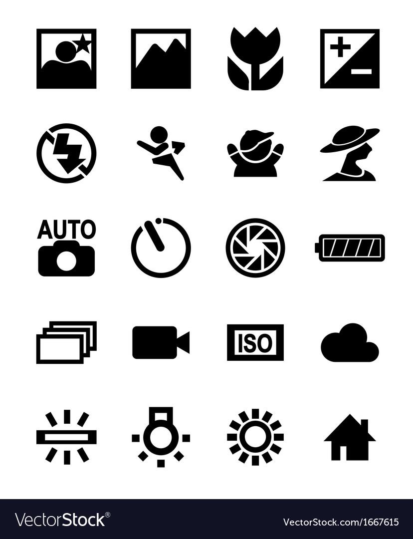 Dslr camera function icon vector