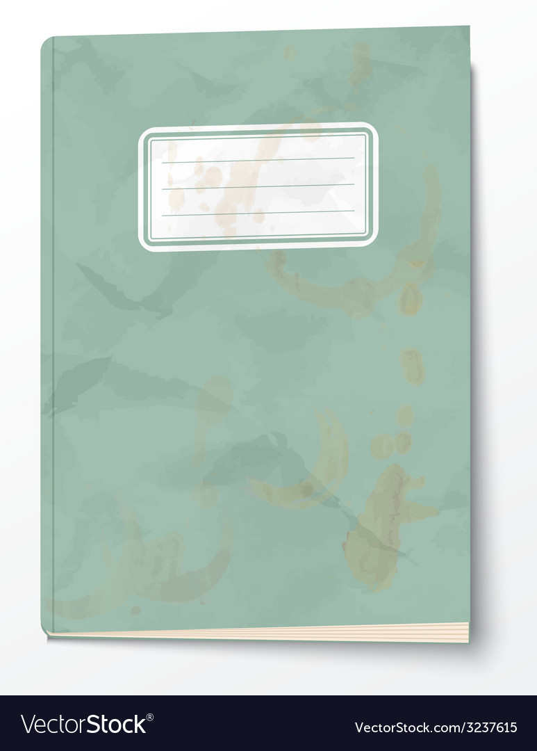 Old exercise book vector
