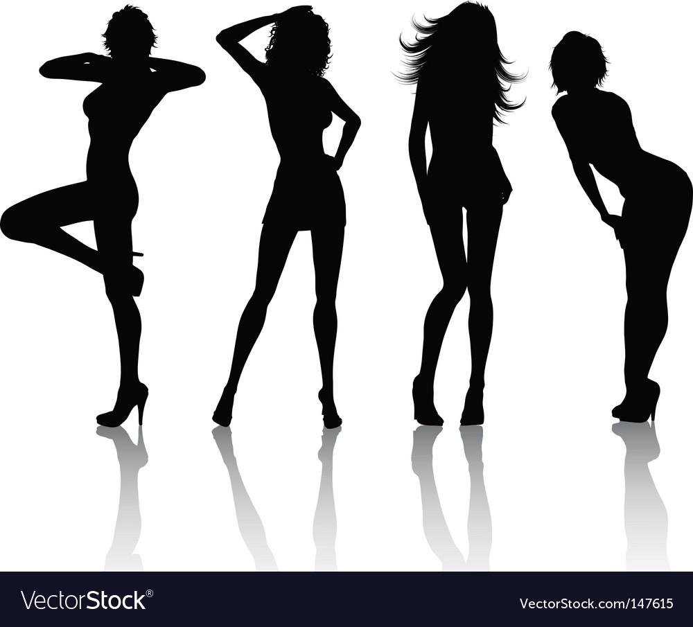 Sexy females vector