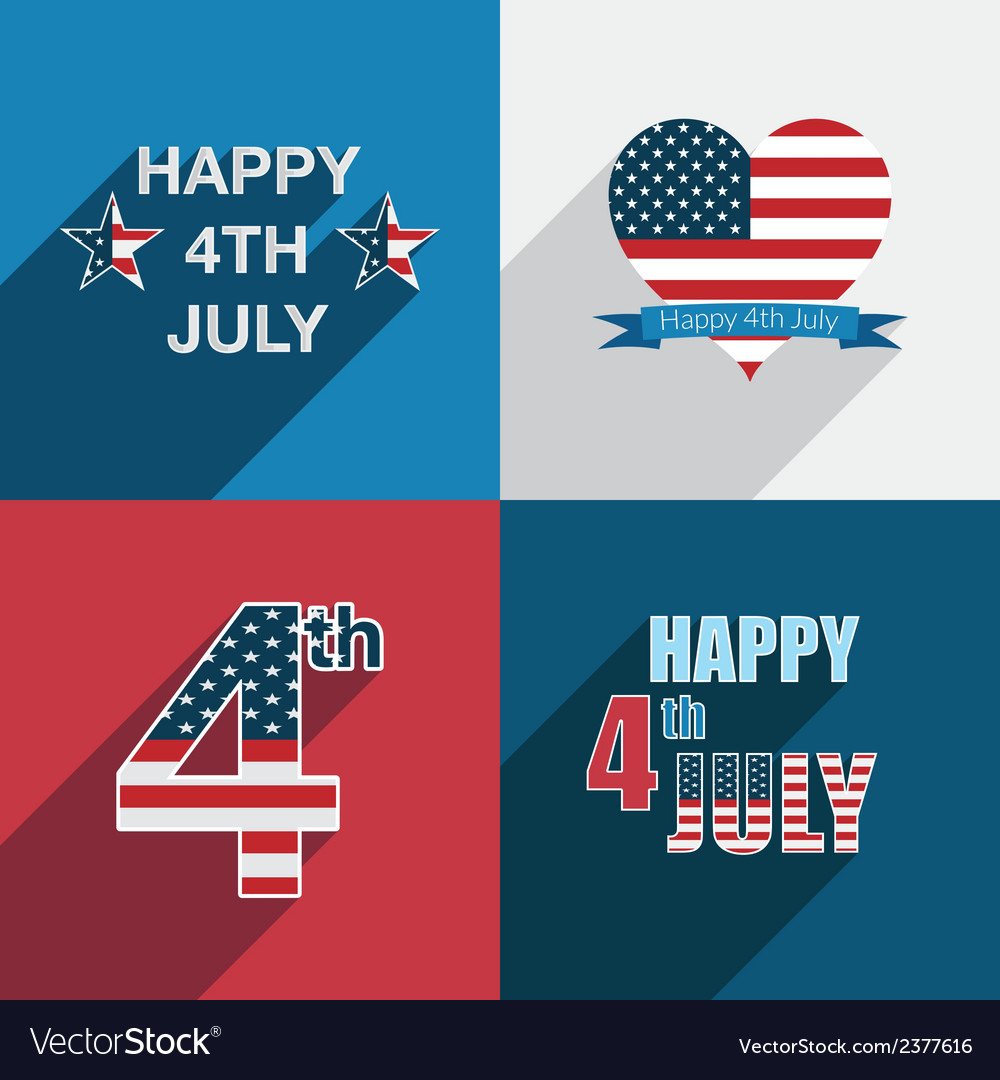 Usa decorations vector