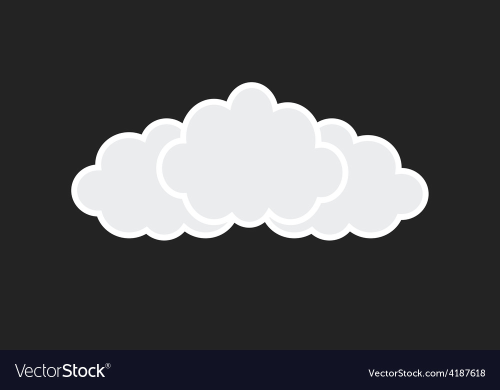Web white clouds vector