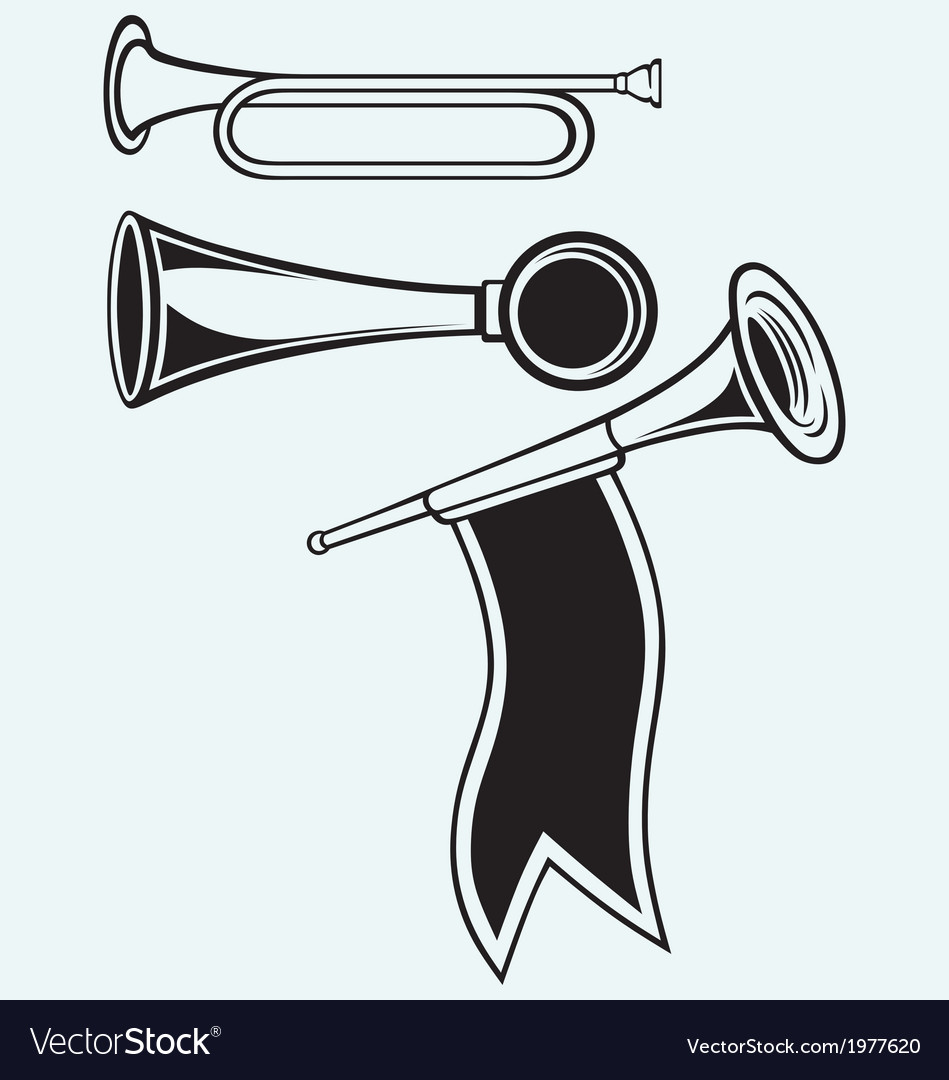 Fanfare and wind musical vector