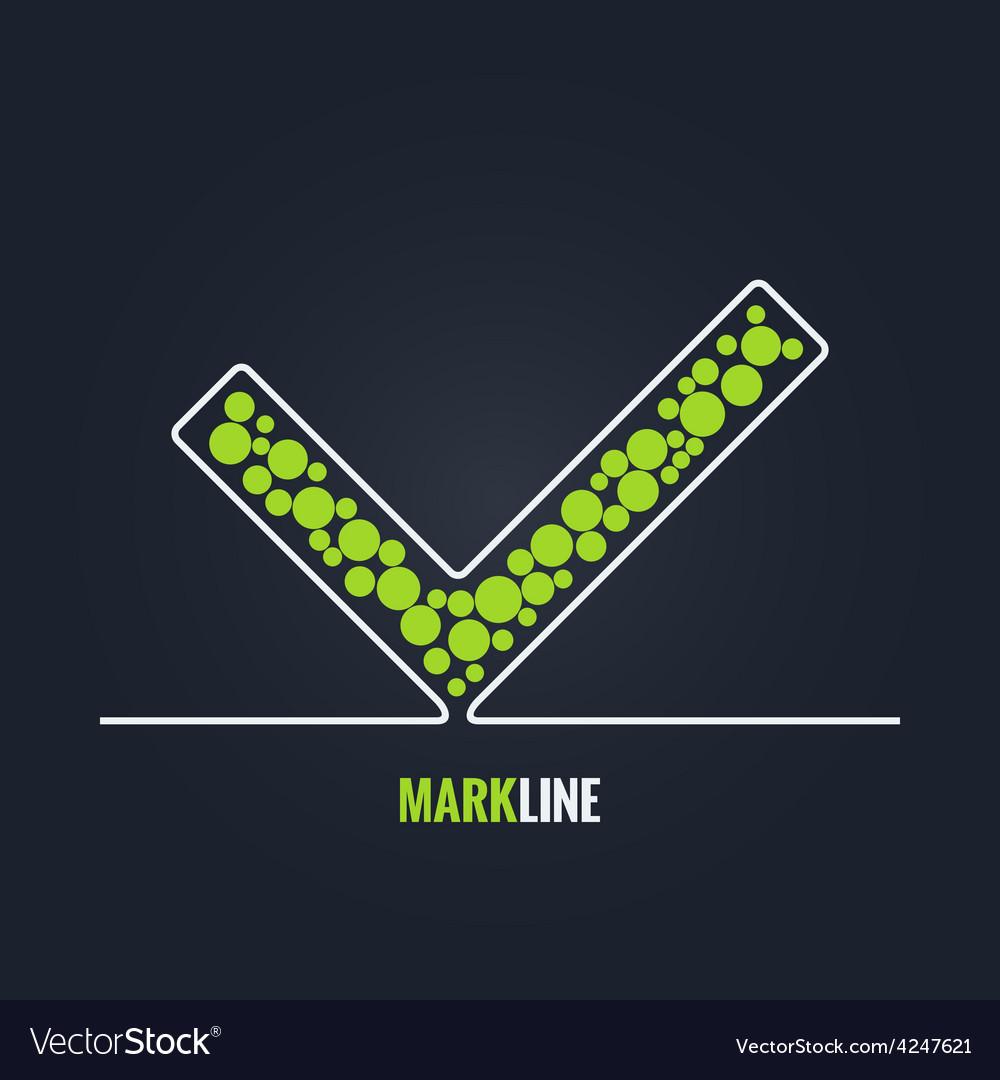 Check mark success background vector