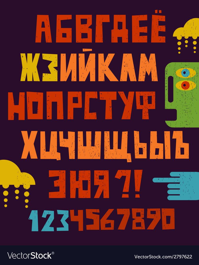 Cartoon russian alphabet letters vector