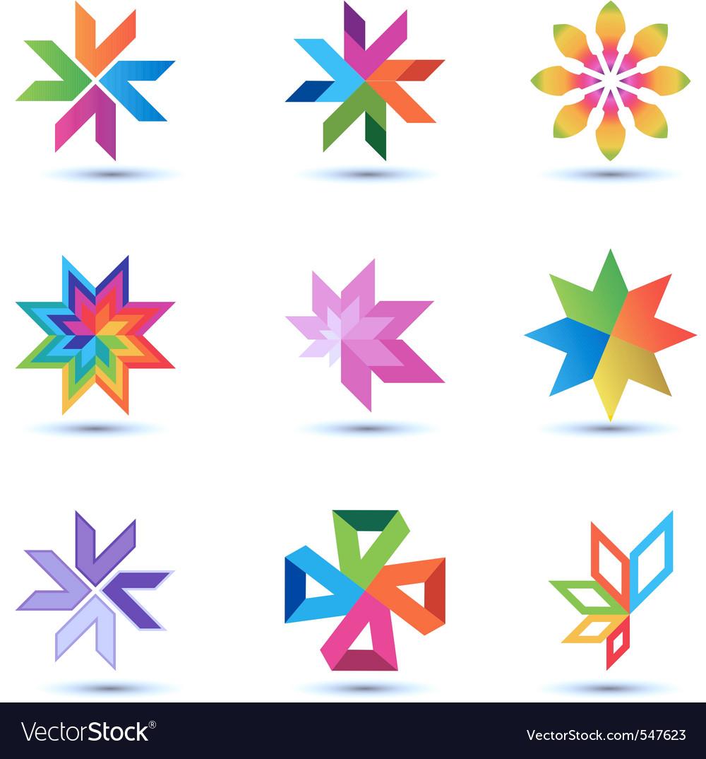 Corporate design elements vector