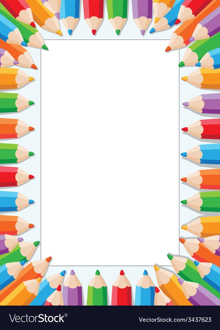 Pencils card vector