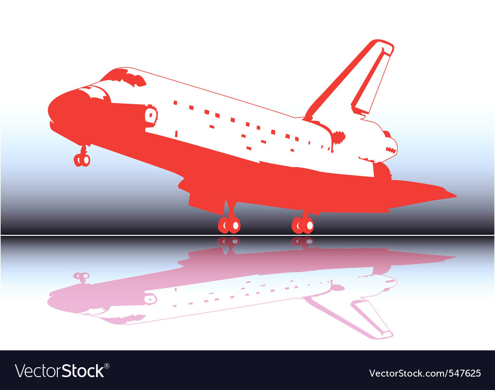 Space shuttle landing vector