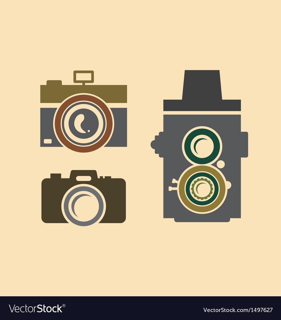 Vintage cameras vector