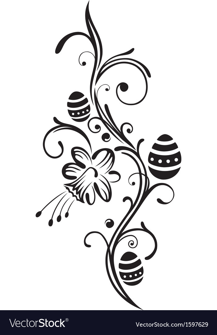Easter daffodil vector