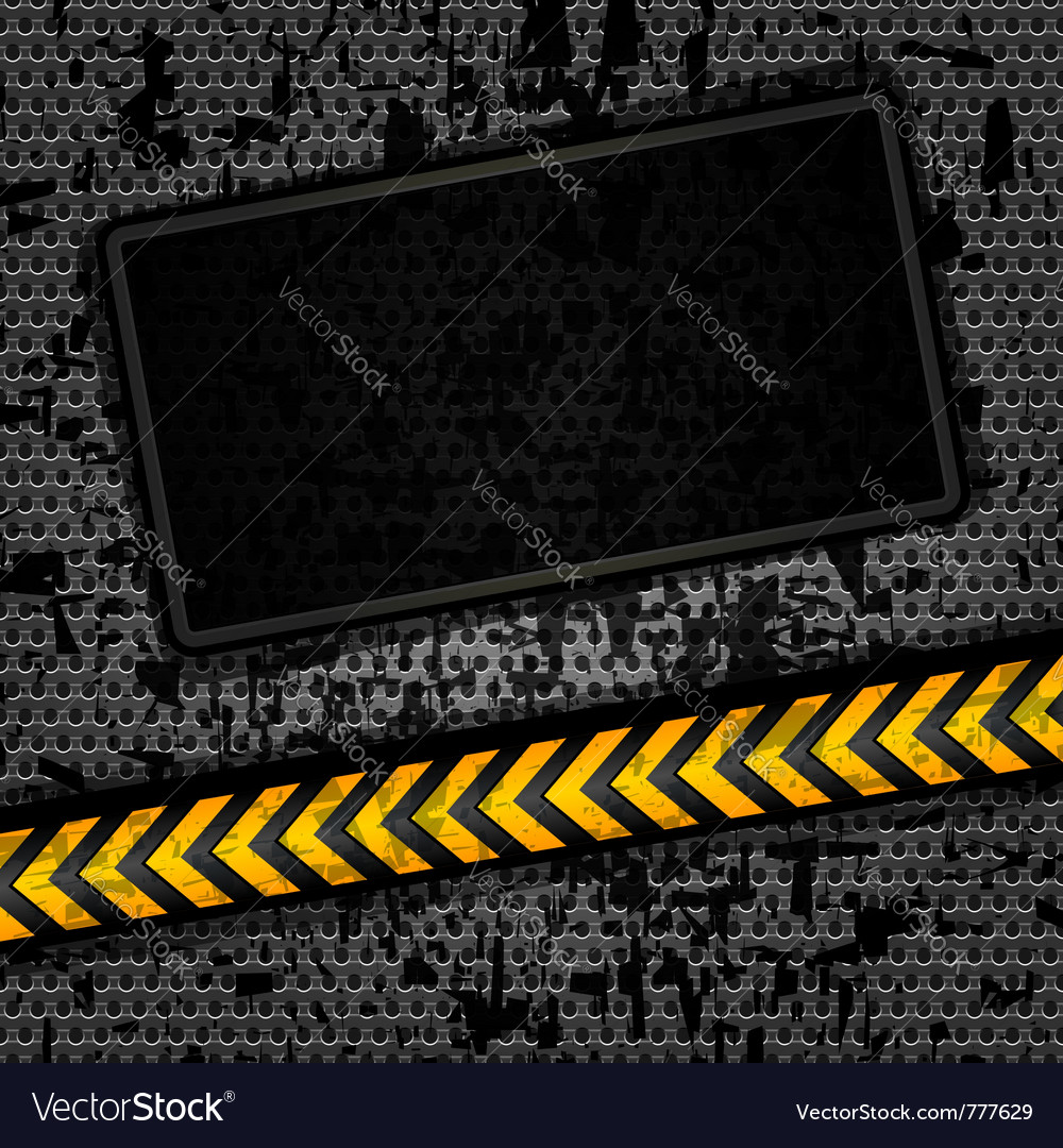 Metallic grunge background vector