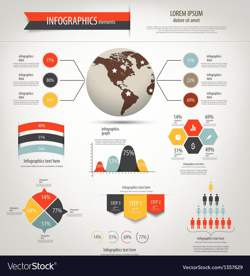 Retro infographics 2 vector