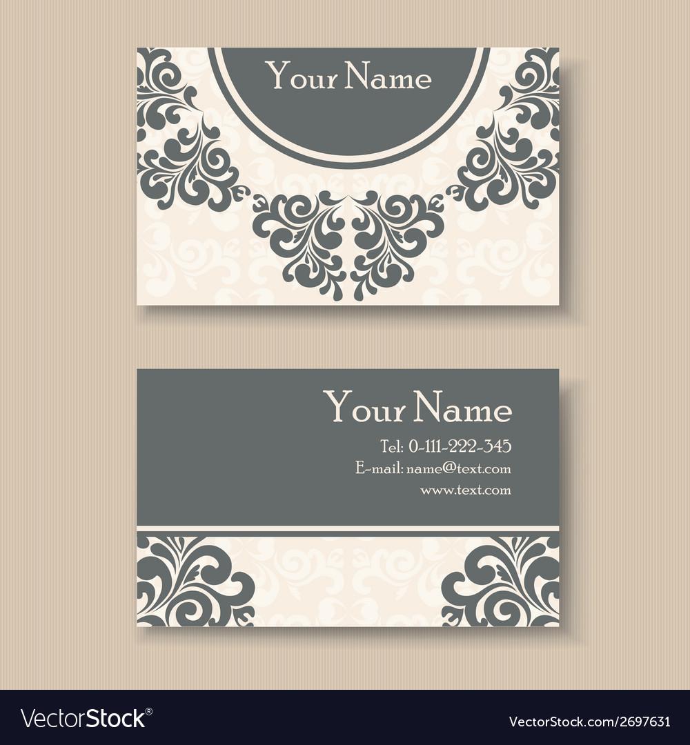 Vintage business card vector