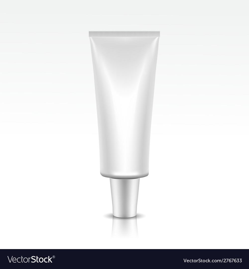 Blank tube package vector