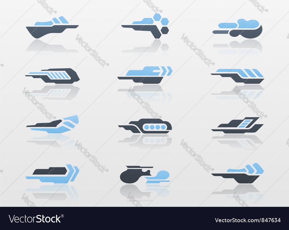 Futuristic arrows - logo templates vector