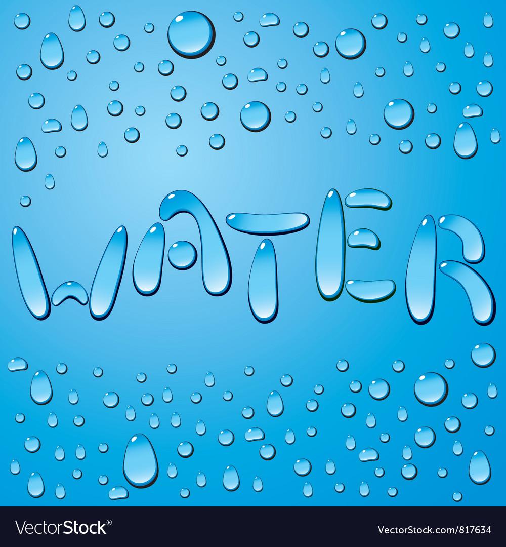 Water drop word vector
