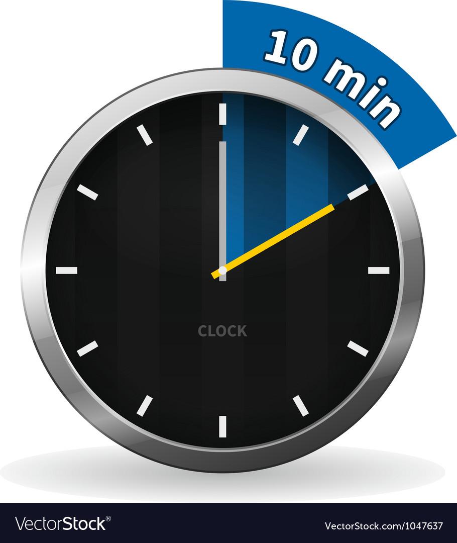 Clock 10 minutes to go vector