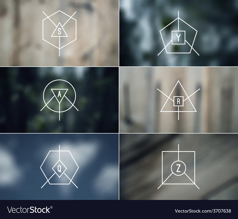 Set of trendy badges and card vector