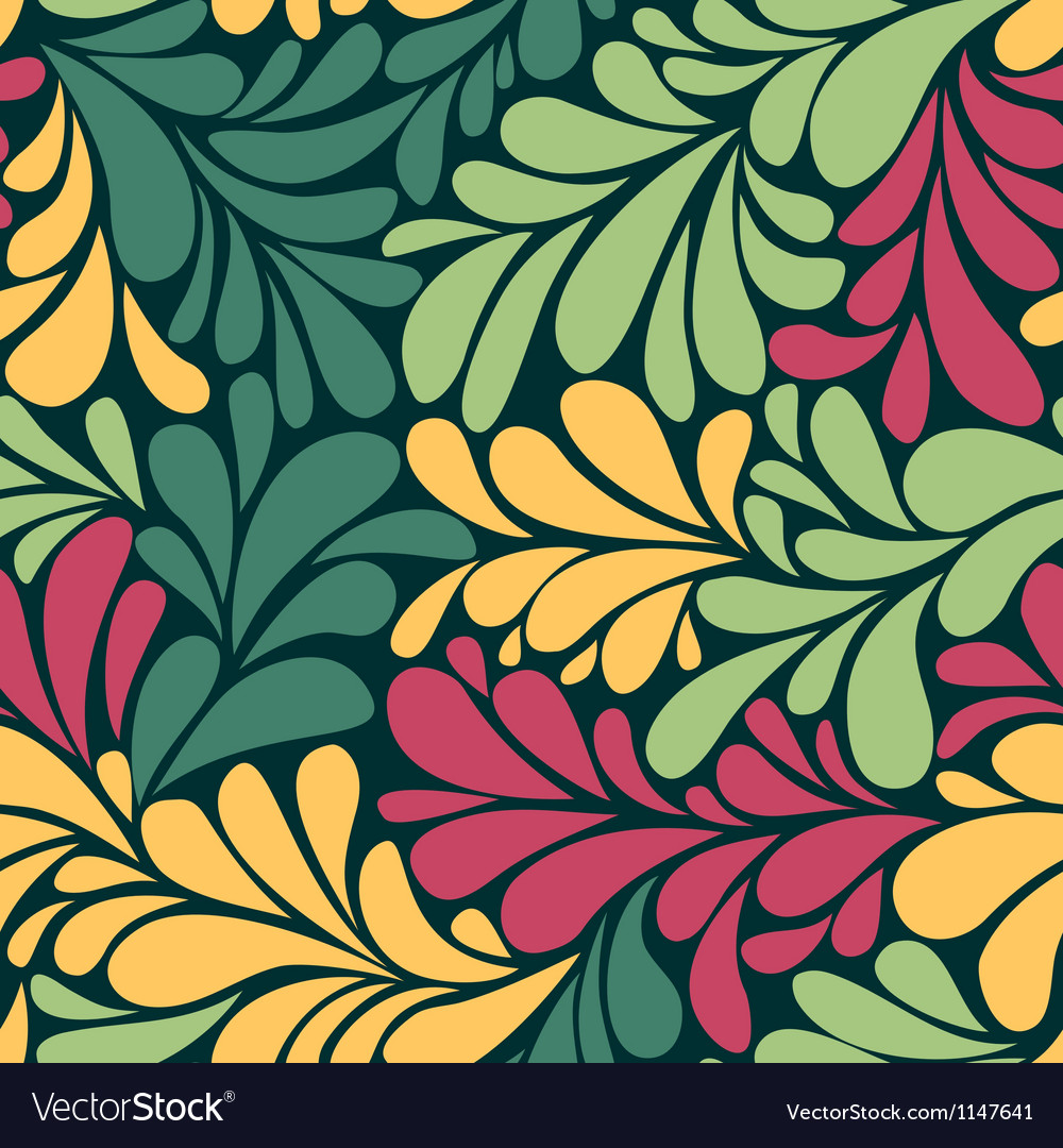 Abstract romantic seamless wallpaper with curls vector