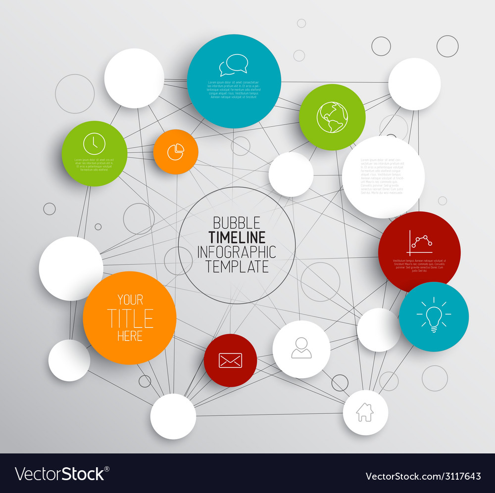 Light abstract circles infographic template vector