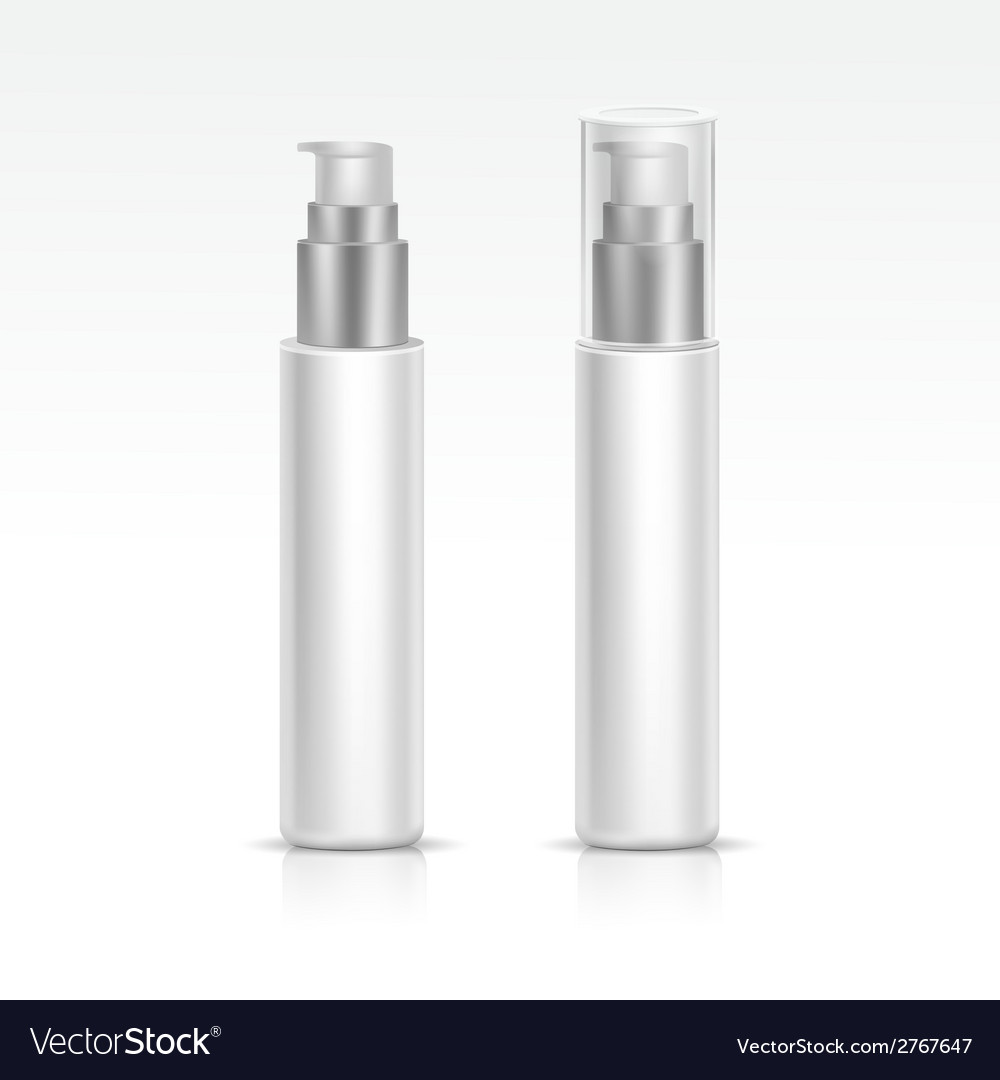 Blank spray bottle isolated vector