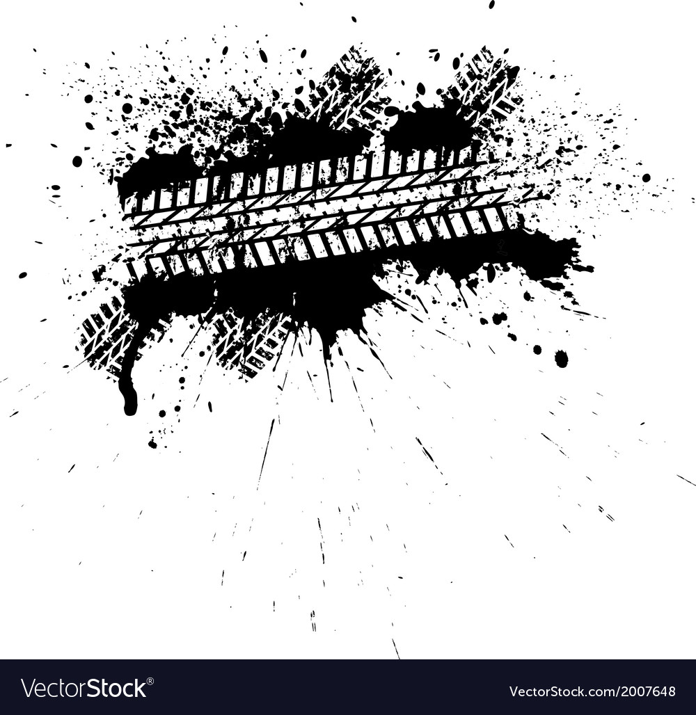 Ink tire track vector
