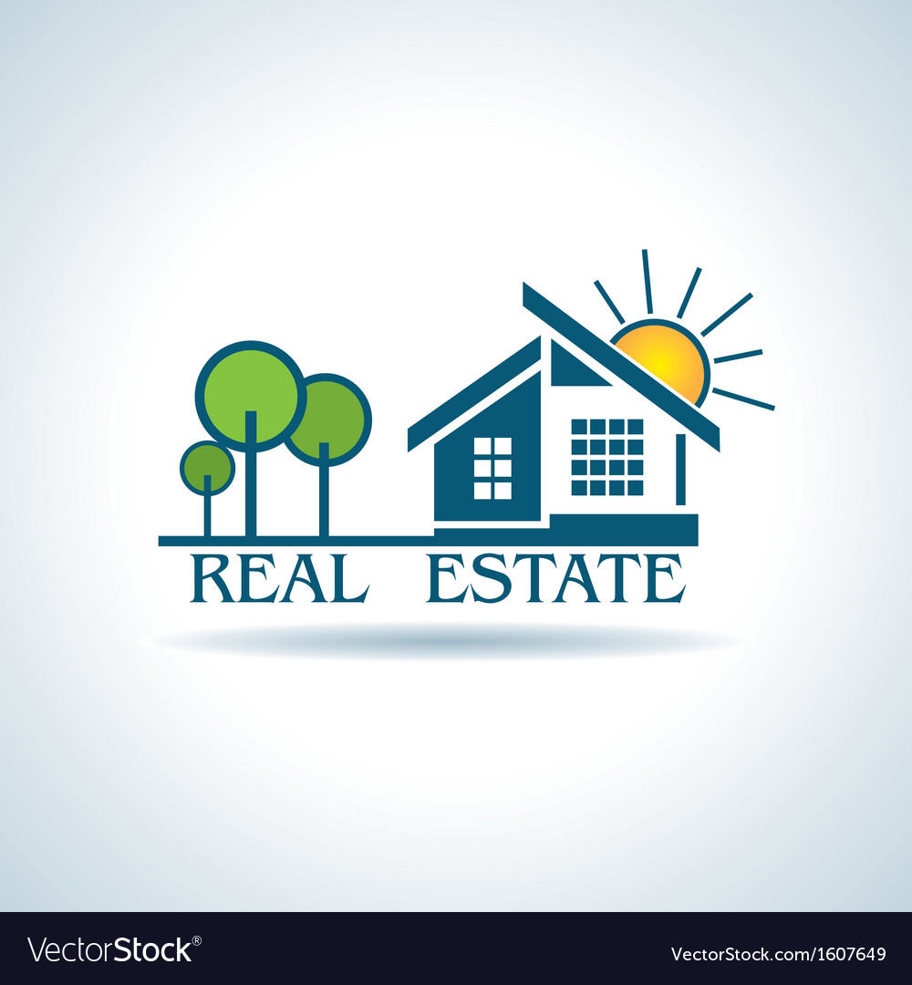 Modern icon for real estate business design vector