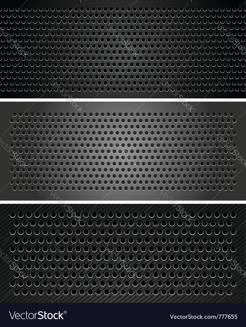 Metallic perforated sheet vector