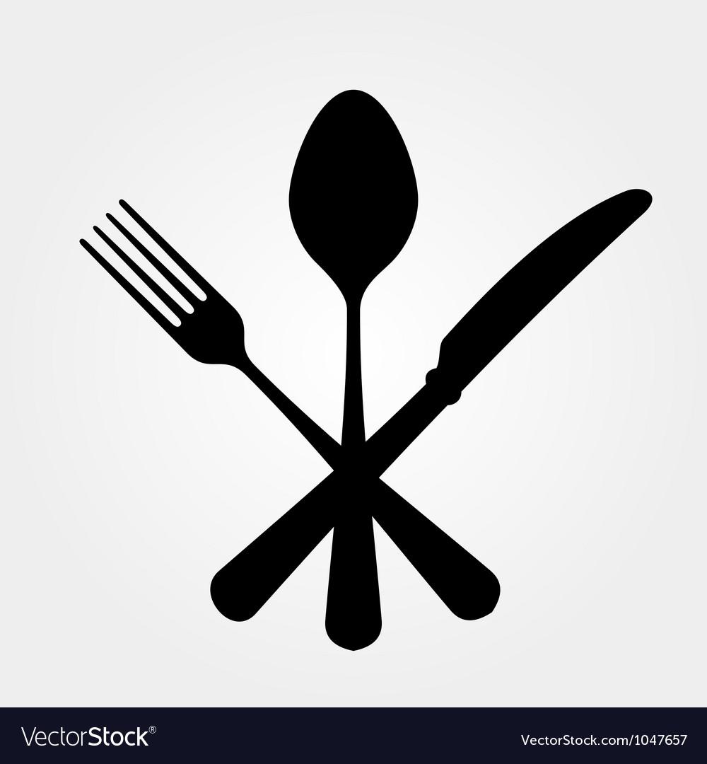 Black cutlery vector