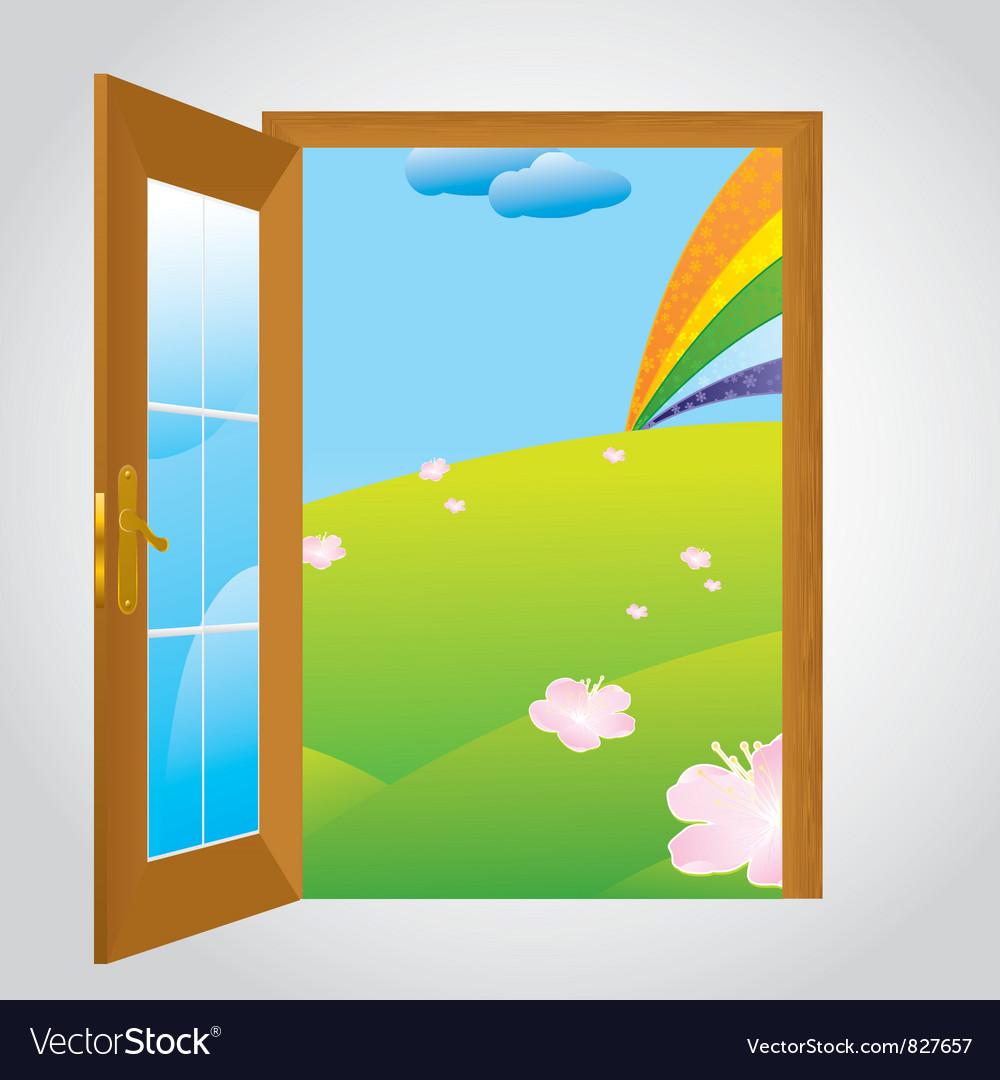 Door gray vector