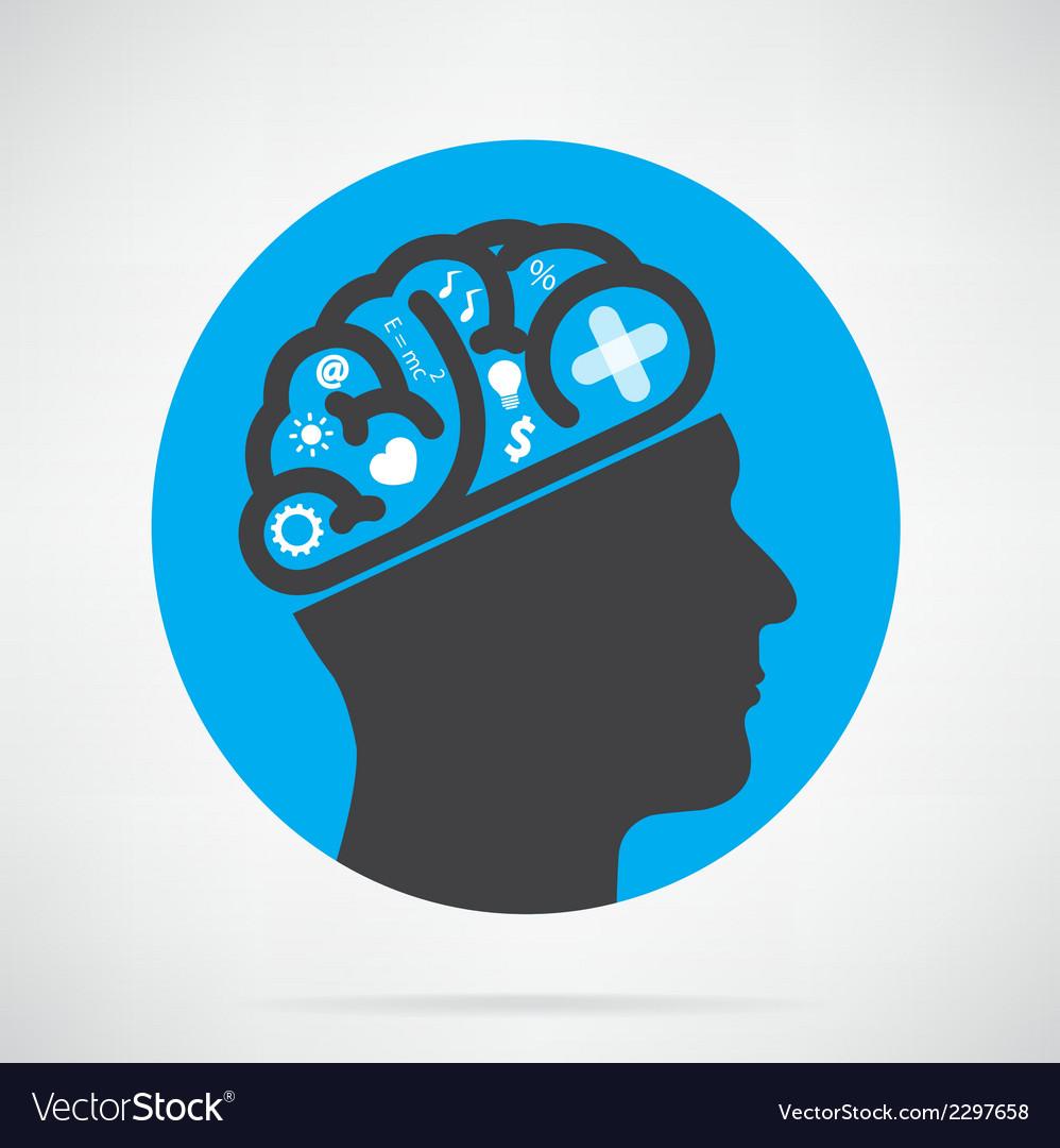 Creative head vector