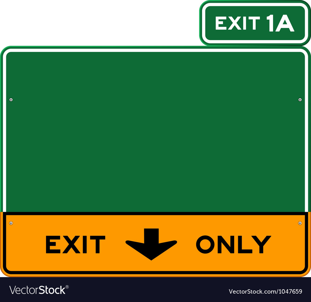 Exit only sign vector
