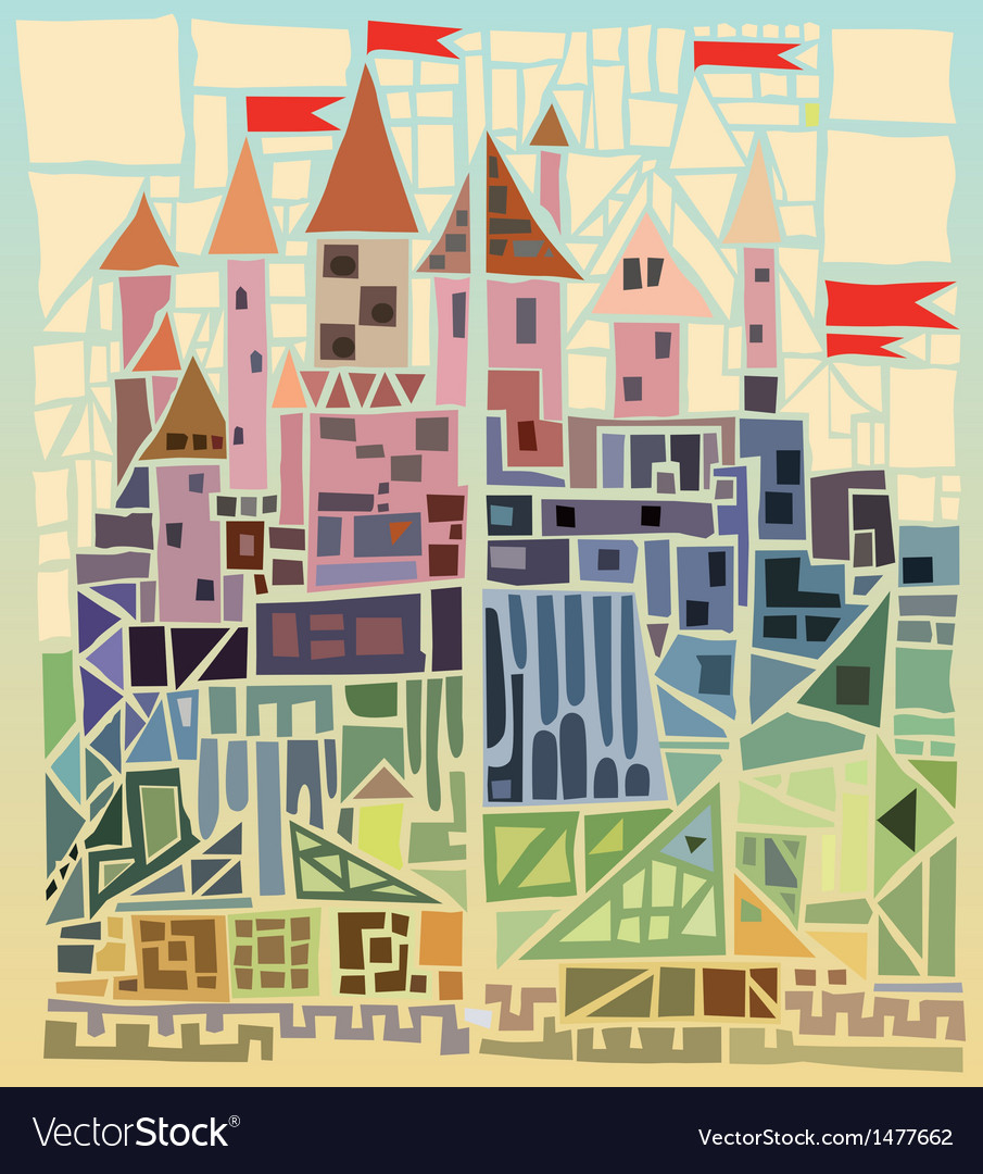 Ancient castle vector