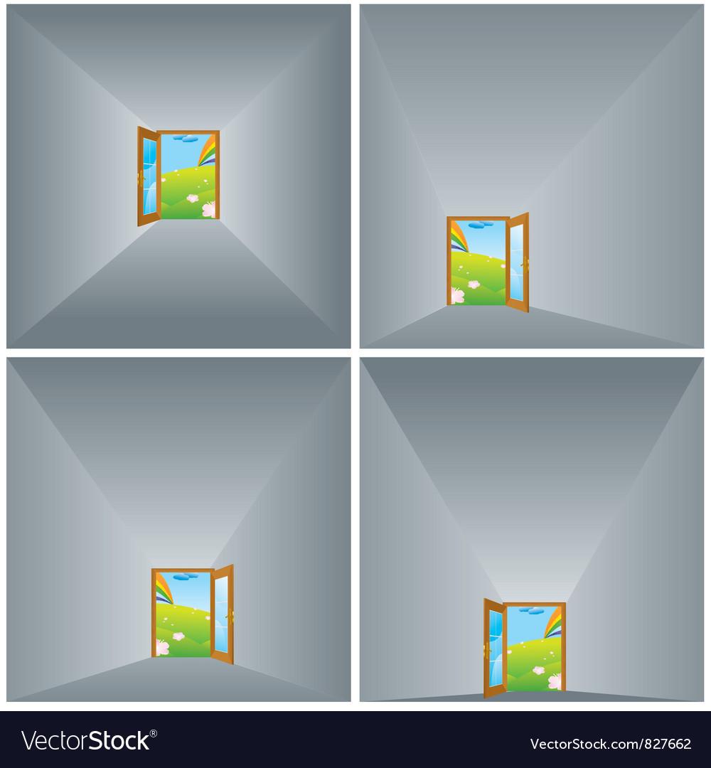 Door in gray vector
