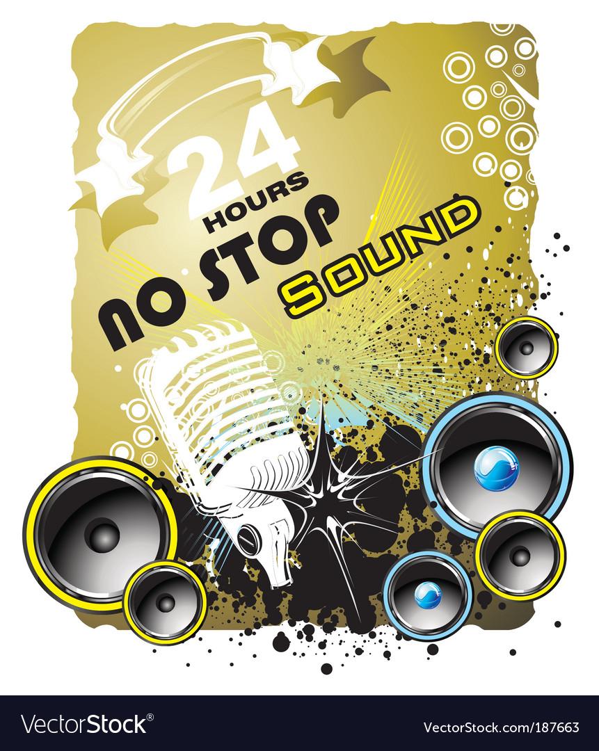 Grunge music back ground vector