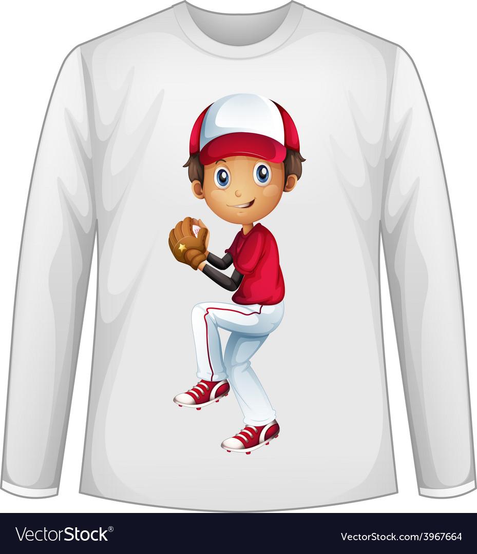 Baseball shirt vector