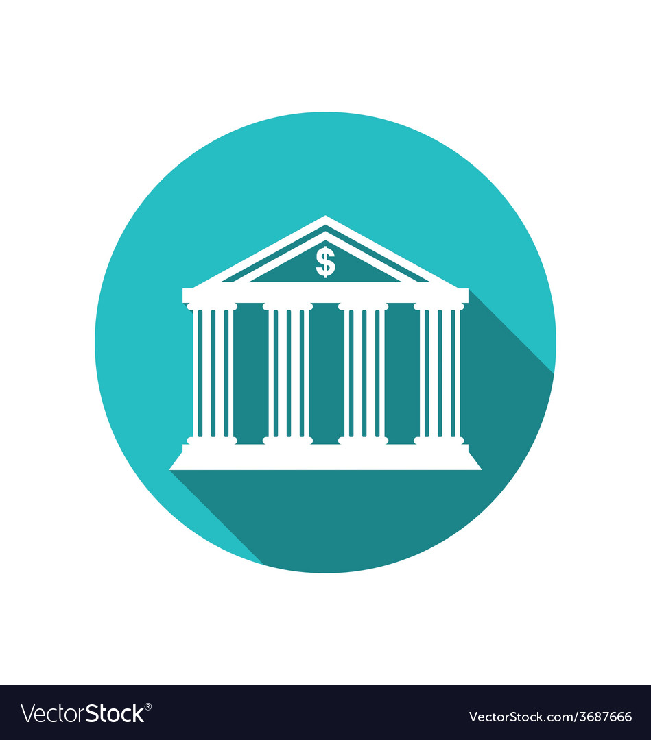 Bank building in the style of a classical greek vector