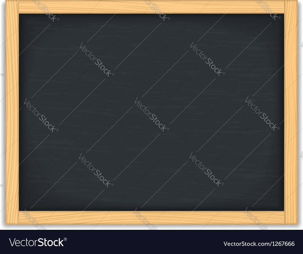 Black chalkboard vector