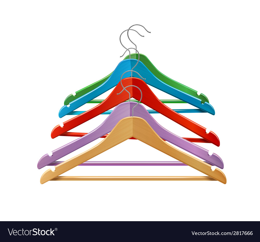 Clothes hangers colored vector