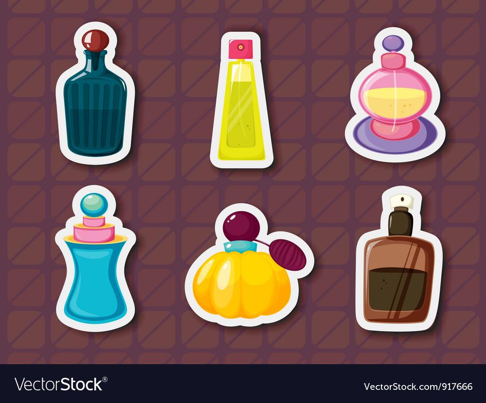 Perfume bottles vector
