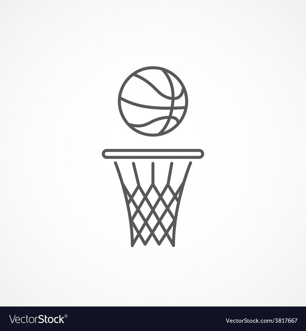 Basketball line icon vector