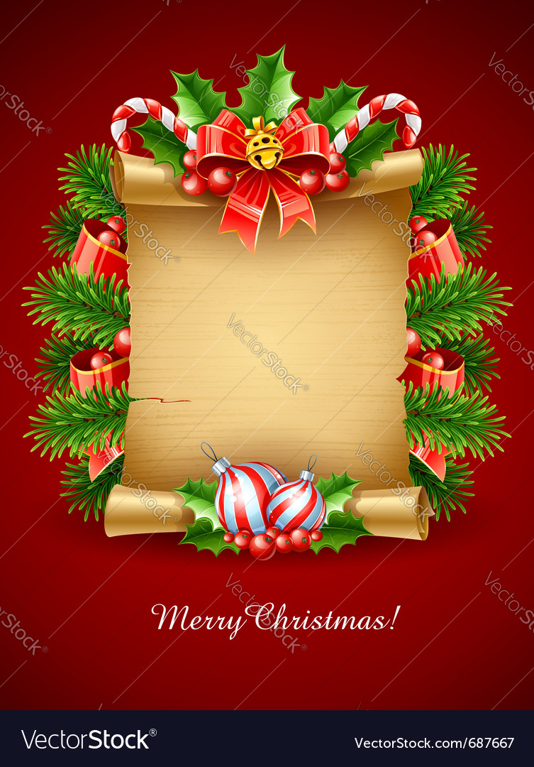 Christmas holiday greetings vector