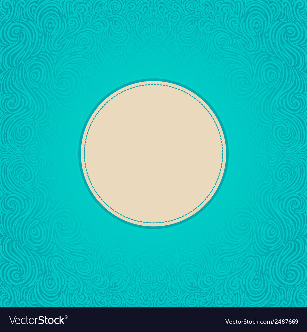 Blue abstract frame vector
