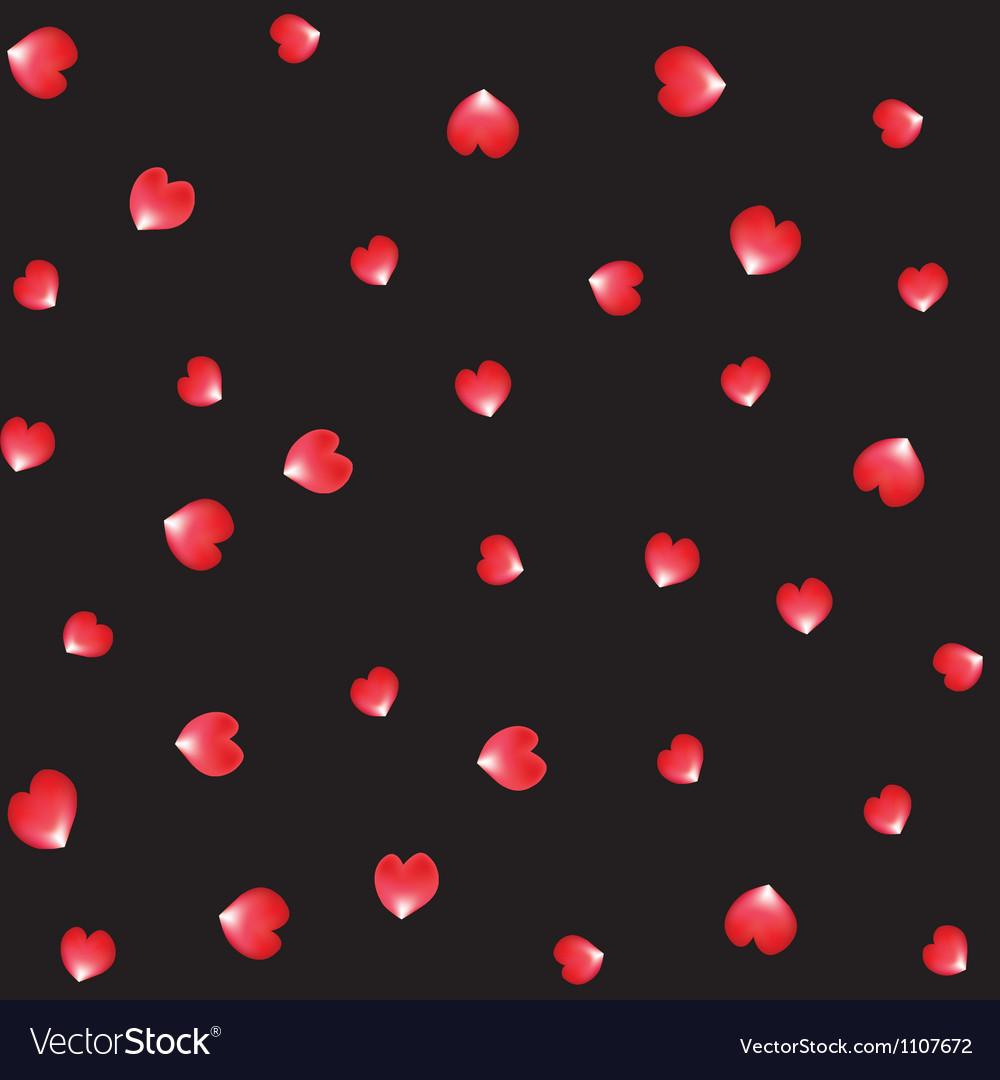 Falling red roses petal vector