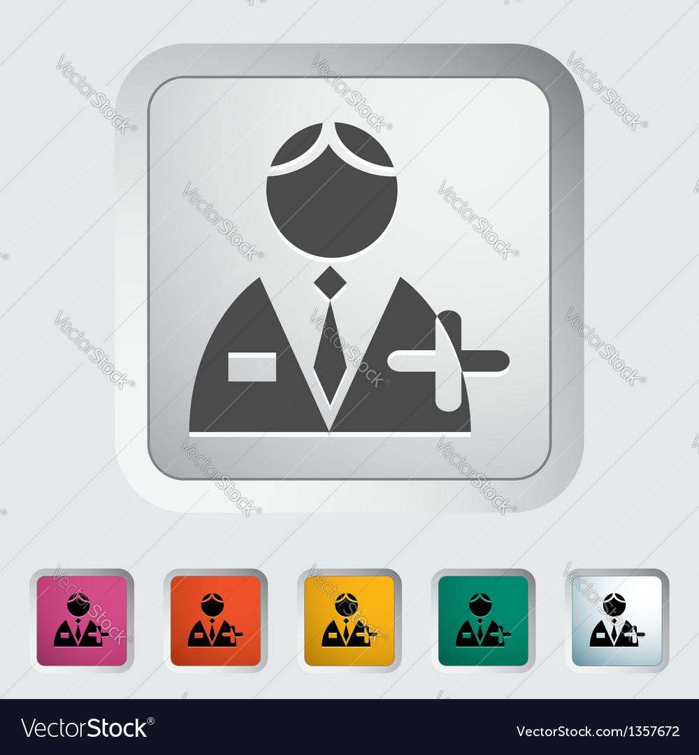 Person single icon vector