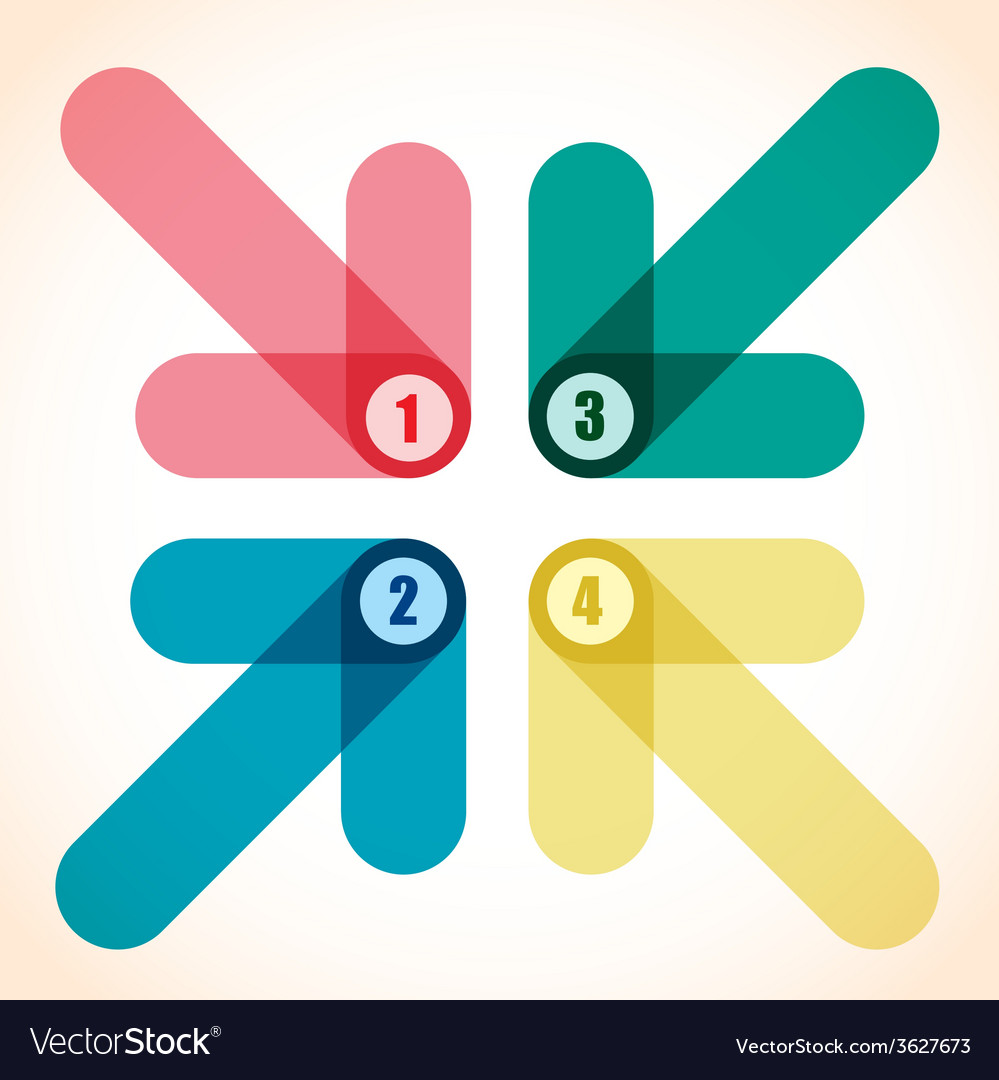 Number arrows vector