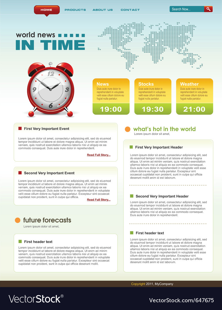 Web page infographic template vector