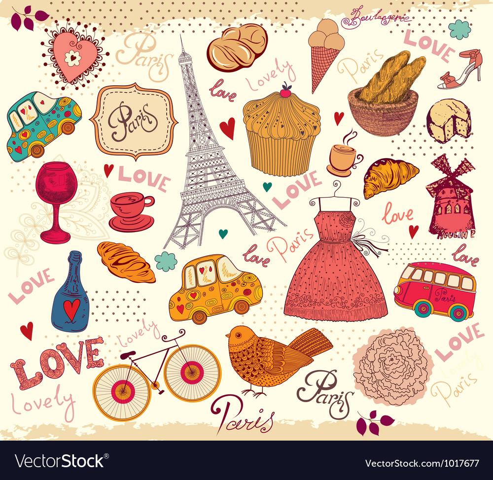Parisian background vector