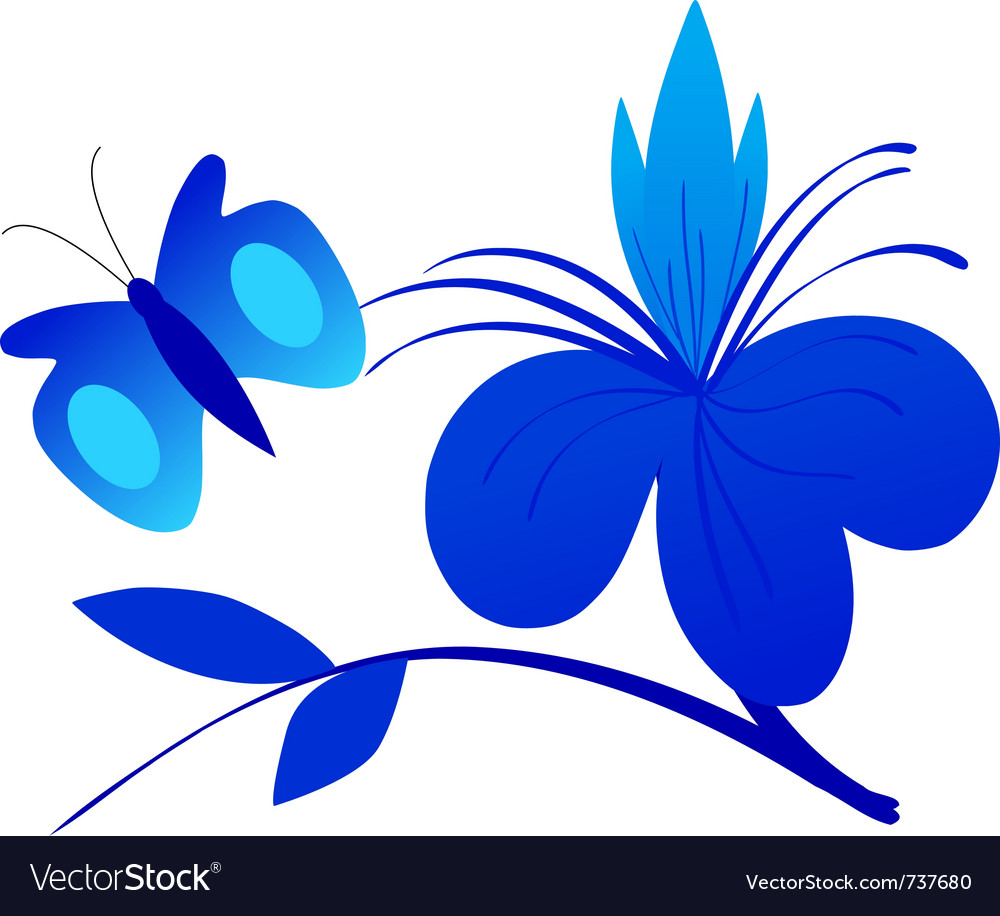 Abstract composition with butterfly vector